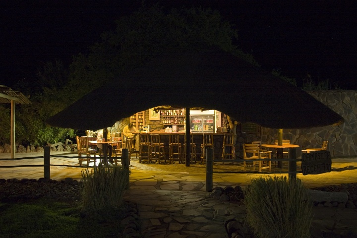 Bar der Palmwag-Campsites